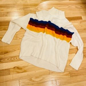 Express Mock Neck Stripe Sweater